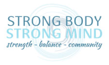 strong body strong mind strength balance community logo